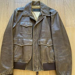 DSQUARED2 Calfskin Distressed Leather Jacket